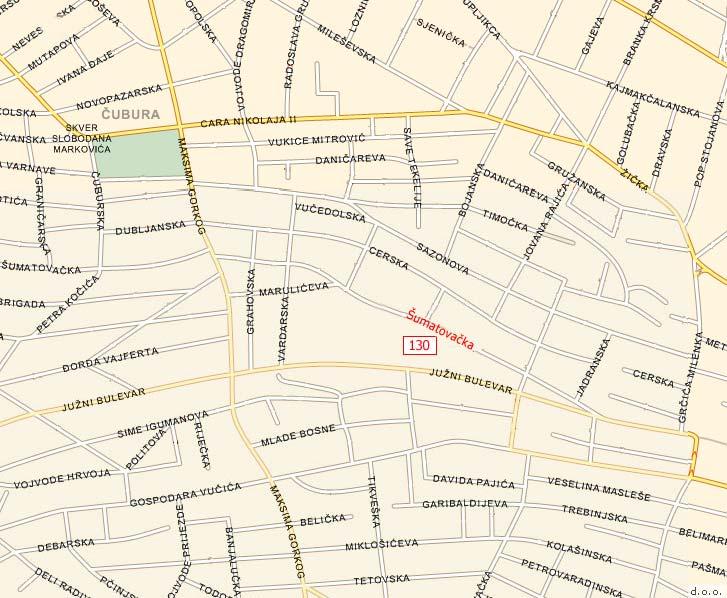 sumatovacka ulica beograd mapa Šumatovačka 130, Beograd sumatovacka ulica beograd mapa